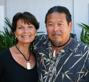 Jackie Casimano (Lena) and her husband, Kenneth Hiraoka.