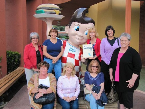 BHS Girls had a mini-reunion at Bob's Big Boy in October 2010 (Back row: L-R Stephanie Llewellyn,
