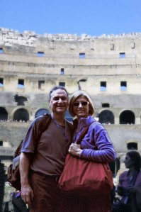 Skip Johnston sent a photo of himself and his wife also in Rome!