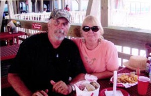 "Robin Neklia Smith and her husband, Don, in Panama City, FL, called ""The Redneck Riviera"""