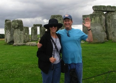 Dennis and his wife at Stonehenge.