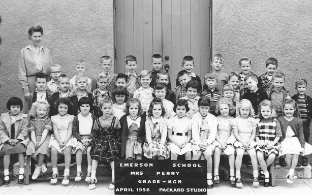 Mrs. Perry's kindergarten class, Emerson School, 1956.