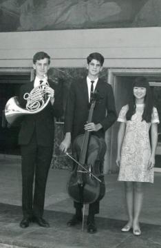 Winners of the Burbank Women's Chorus music scholarships, 1968.