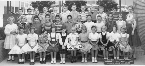 Fourth grade class, Thomas Jefferson School,