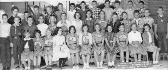 Miss Ohs fifth grade class from Thomas Jefferson School, 1960-1961.