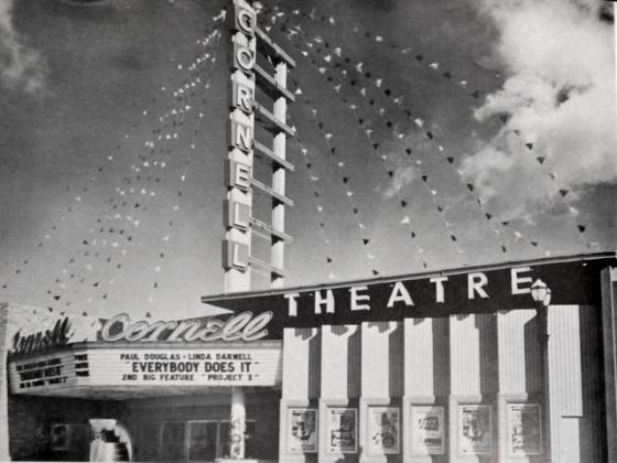 The Cornell movie theatre, not far from Burbank High.