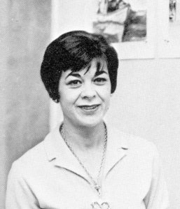 Doris Adams, art teacher. Photo from the 1968 Ceralbus.