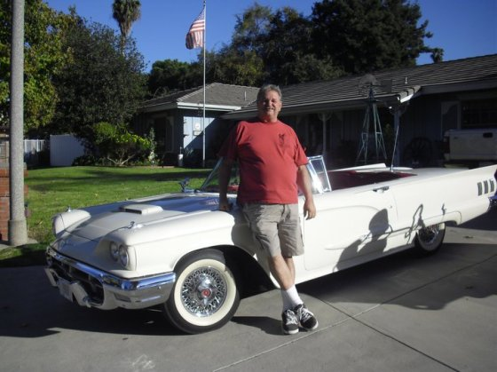 David's 1960 Thunderbird convertible, used in a movie, The Ghastly Love of Johnny X.