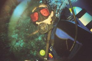Roger's favorite sport is scuba diving.