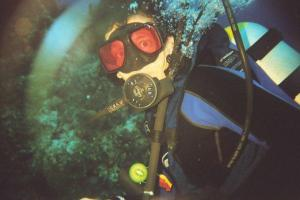 Roger's favorite sport is scuba diving.