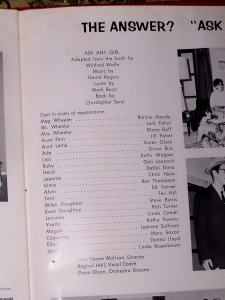Cast list from Ask Any Girl.