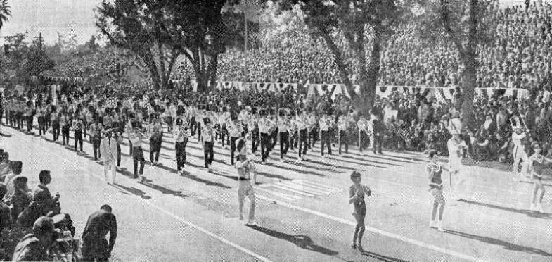 The All City High School Band of Burbank the Rose Parade, 1968
