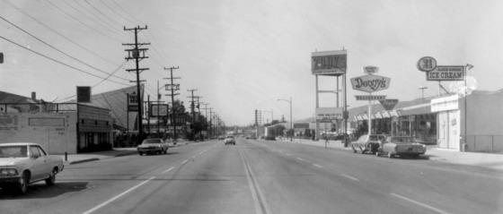 The view on San Fernando Road, Burbank