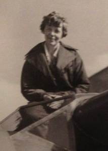 Amelia Earhart in Burbank. Photo from the Matson Navigation Company archives.