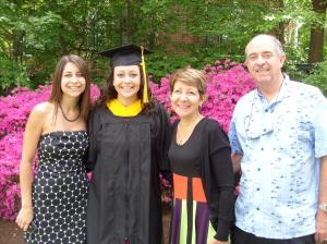 John and Donna Wray are both retired. Shown here with their two daughters,