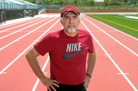 Mark Covert, the U.S. record holder and No. 2 in the world for the longest streak of consecutive days having run at least 1 mile, will end the streak Tuesday, July 23, on the 45th anniversary of when it started. (Michael Owen Baker/L.A. Daily News)