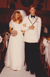 Jackie Hayes and her husband, Steve Steen, on their wedding day.