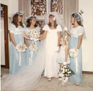 Wedding day, 1970
