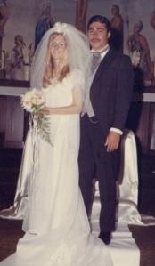 Wedding day, July 5, 1969.