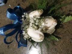The committee gave me a wrist corsage, like you might have at a prom!