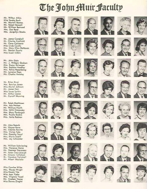 John Muir faculty, 1963