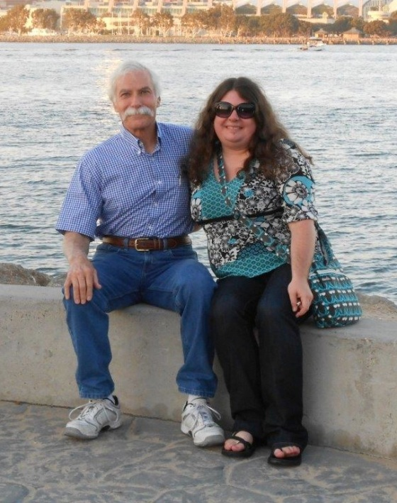 Mike Mooney with his daughter at Coronado