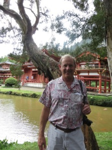 Jim at the Byodo-in Temple on the windward side.