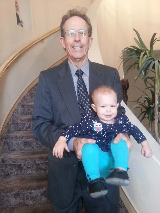 Tom with granddaughter