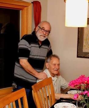 Les Heller and his 92-year-old father