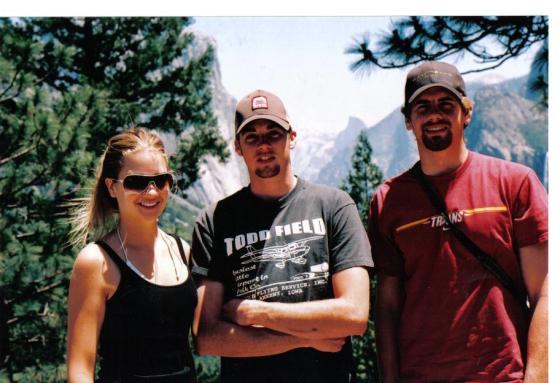 Bill Reimers' three children at Yosemite.