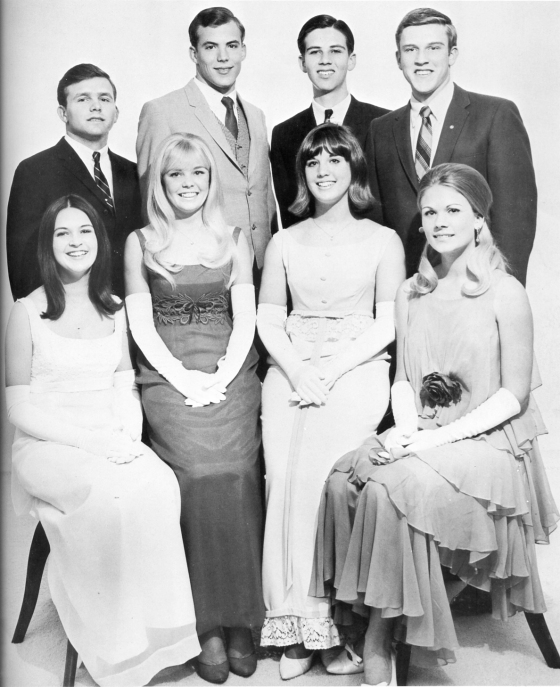 Candidates for Prom Queen and Prom King from Burbank High School, 1968.