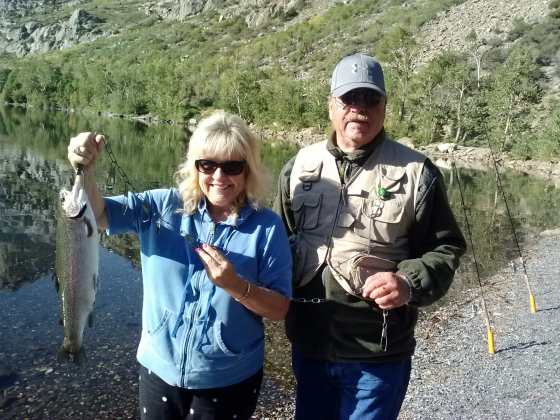 Cheryl and husband, Hugh, love fishing.