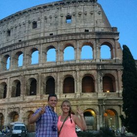 Daughter Heather and son-in-law in Italy for vacation.