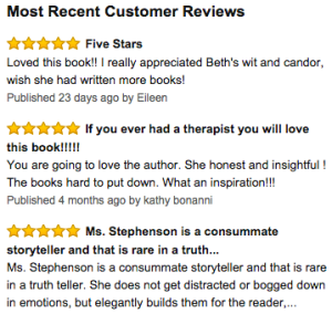 Latest reviews of Beth's book