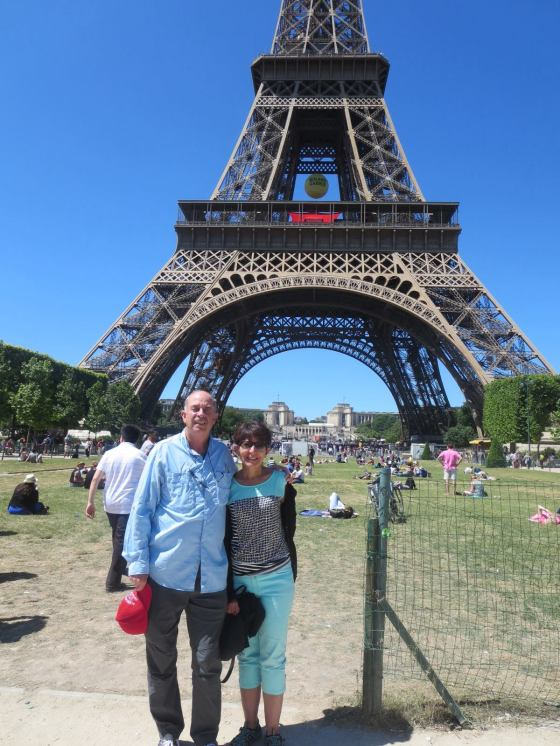 The Wrays at the Eiffel Tower in Paris.