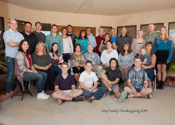 Irey family Thanksgiving 2014