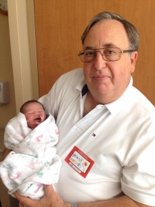 Dave Campbell with his newest grandchild.