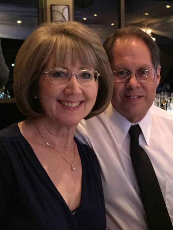 Chris and his wife, at a recent wedding