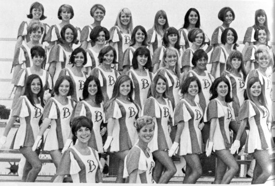Part of Burbank High's Drill Team, 1967-68. Can you find Becky May?