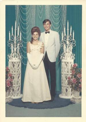Judie's prom picture. Can anybody name her date?